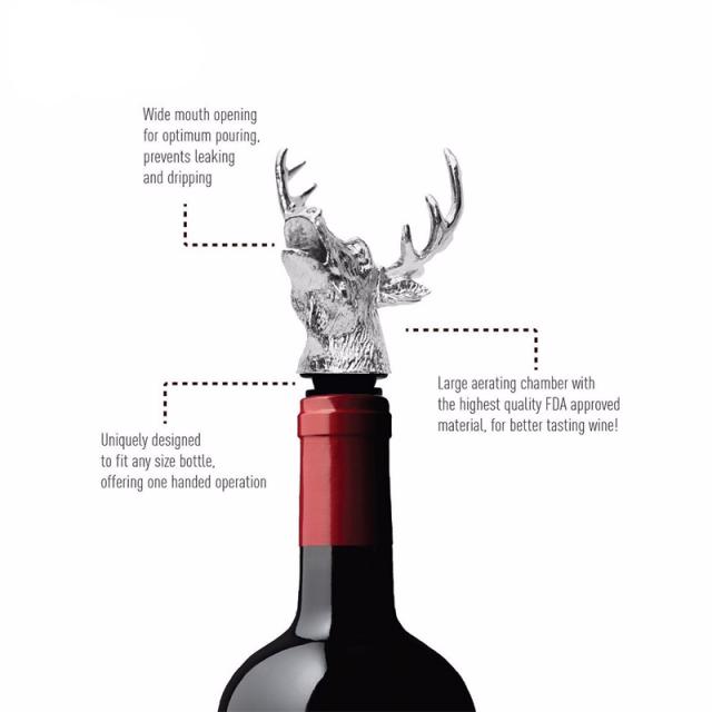Stainless Steel Deer Head Shaped Wine Pourer