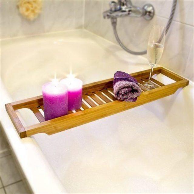 Bathtub Bamboo Wood Tray