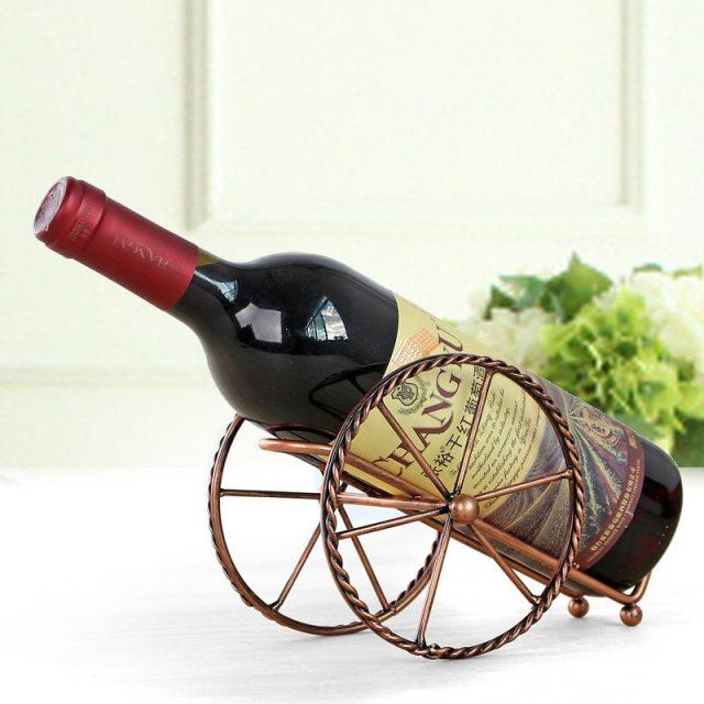 Metal Iron High Wheel Bottle Holder