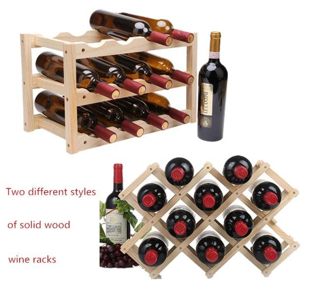 Wooden Wine Rack 10/12 Bottle Holder