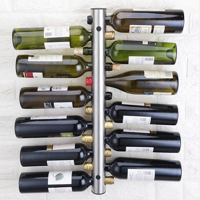 Creative Design Wall Mounted 12 Bottles Holder 42.5x5cm