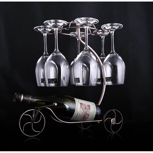 Decorative Wine Bottle/Glass Holder