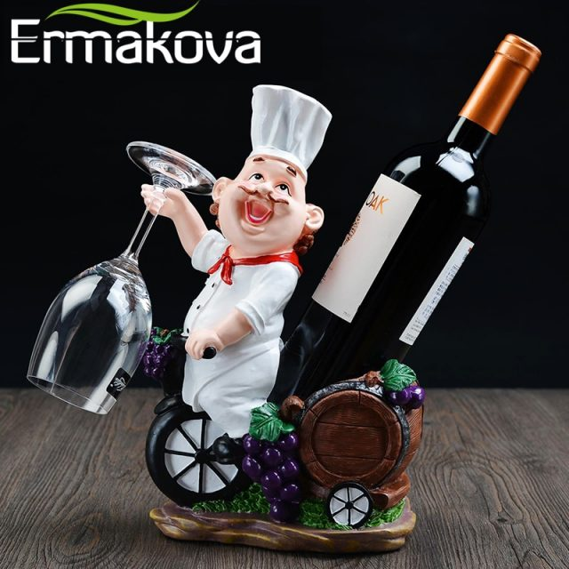 Chef Wine Bottle/Glass Holder