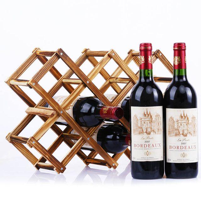 Wooden Wine Rack 3/5/6/10 Bottle Holder