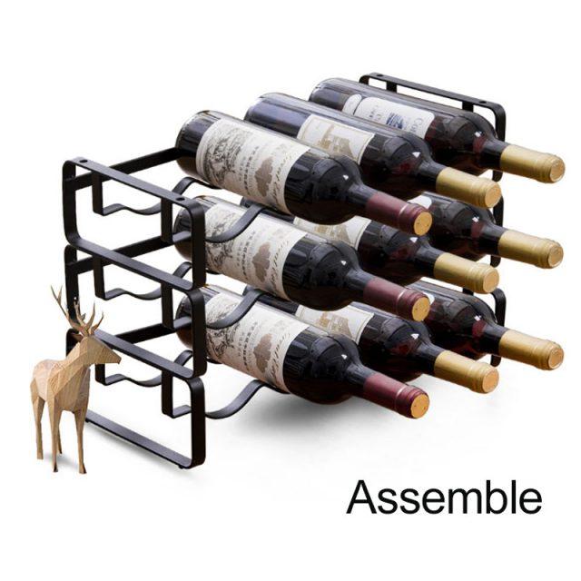Metal Wine Rack 4 Bottles