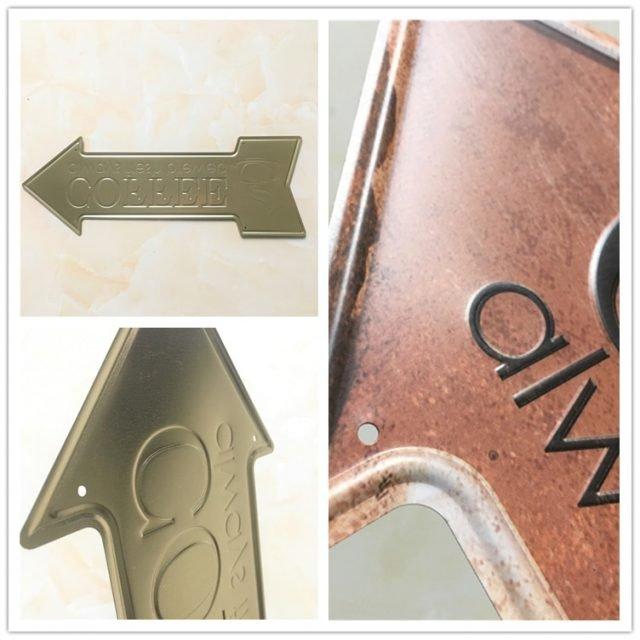Arrow Shape Signpost Metal Signs 45x16cm