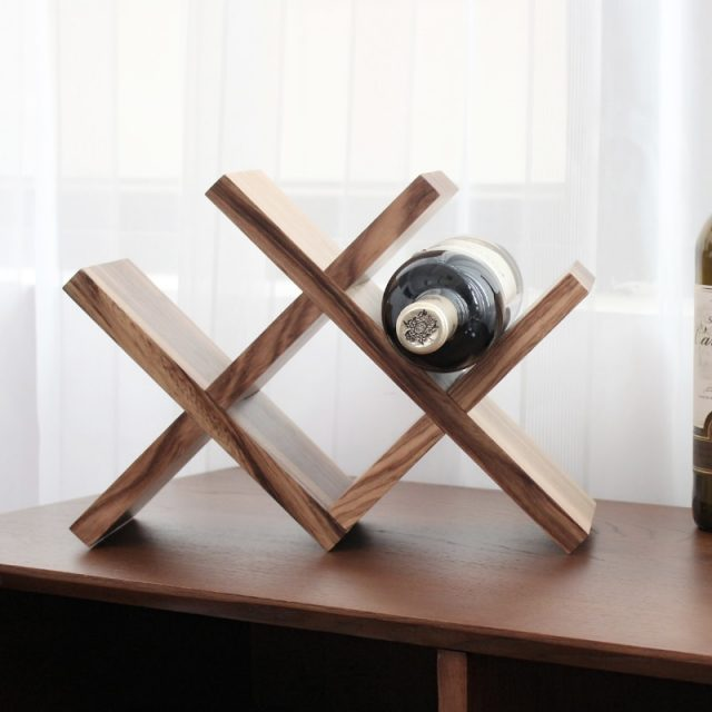 Nordic Wood Bottle Rack