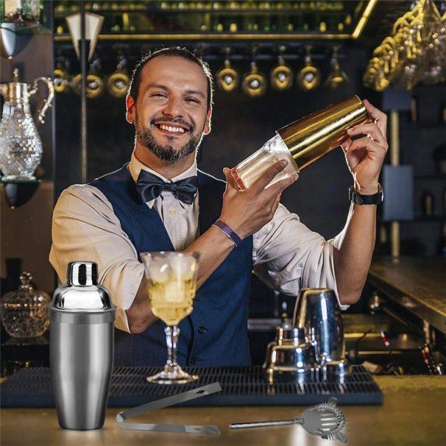 Cocktail Shaker Set 5Pcs/6Pcs, 550ML/750ML