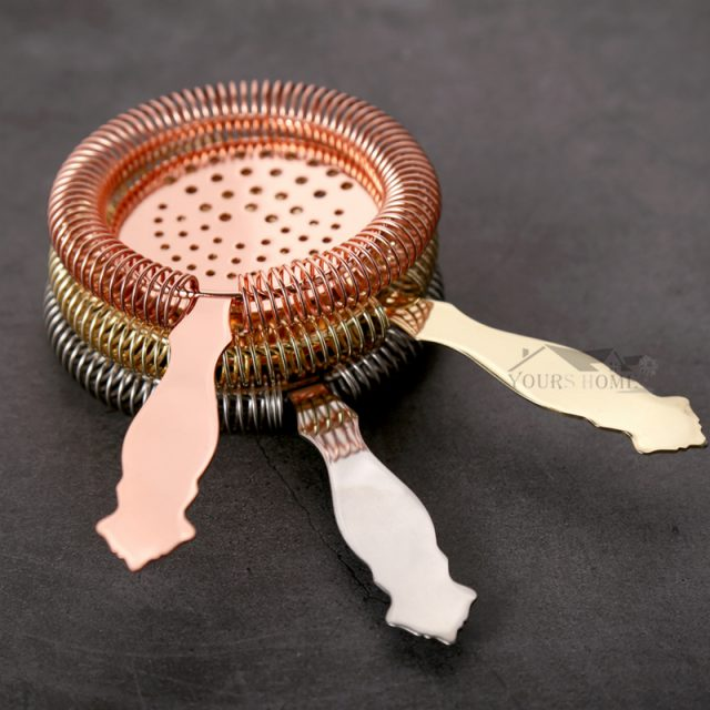 Cocktail Ice Strainer Silver/Copper/Gold/Black