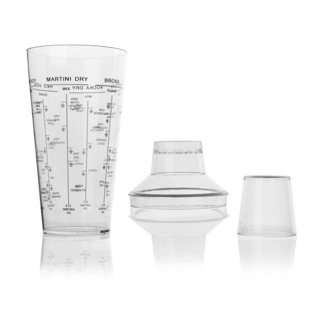 Cocktail Shaker Transparent with Recipes 700ml