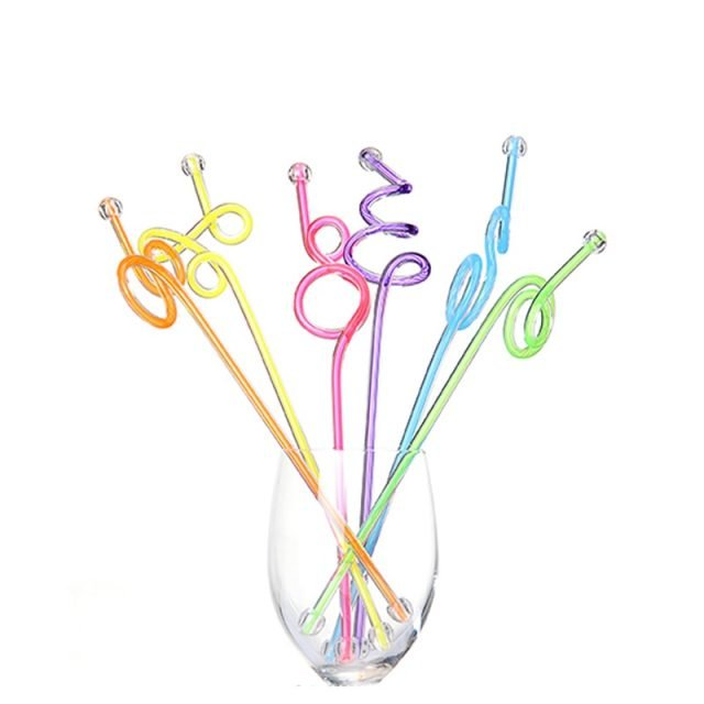 Colorful Glass Stirring Rod 5Pcs/Set
