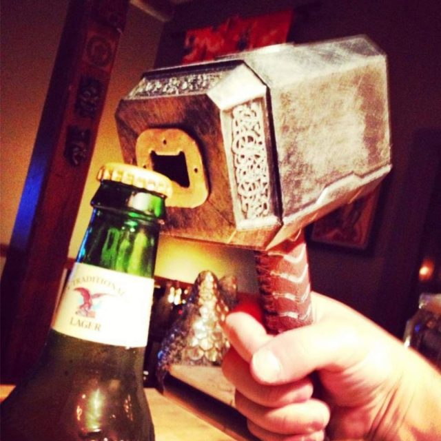 Hammer of Thor Bottle Opener Silver/Gold