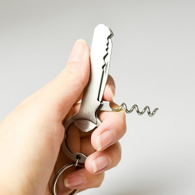 Mini Size Keychain All-In-One Corkscrew 1/2/3/5pcs