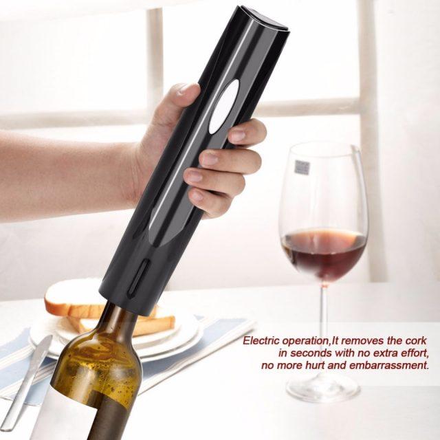 Electric Wine Bottle Opener Black/White
