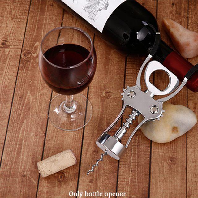 Silver Zinc Alloy Wine Bottle Opener