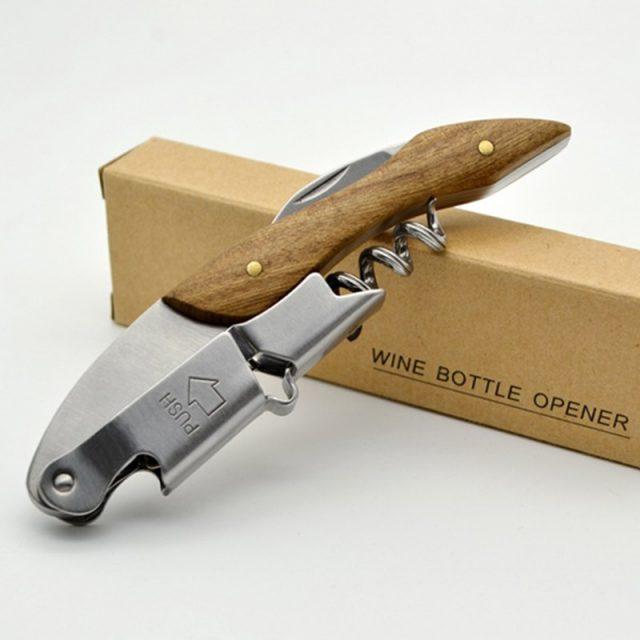 Professional Wooden Handle Wine Bottle Opener