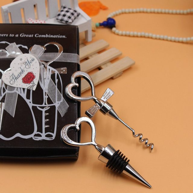 Heart Shaped Corkscrew with Stopper 10Pcs/Lot