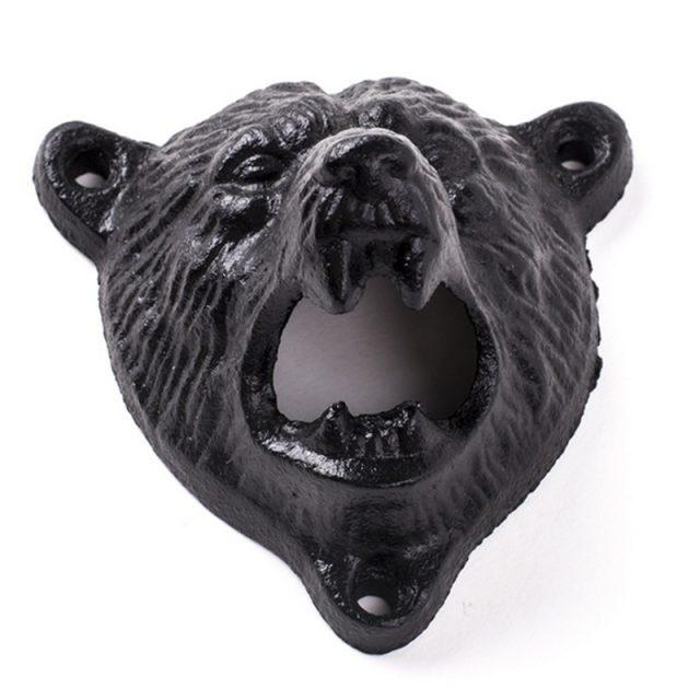 Iron Bear Wall Mounted Bottle Opener