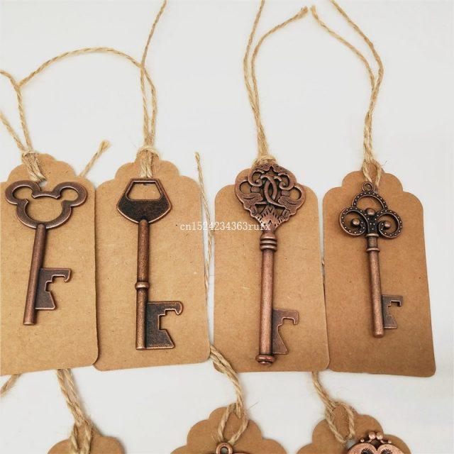 Vintage Metal Skeleton Key Bottle Opener 50Pcs/Lot (15 Designs Available)