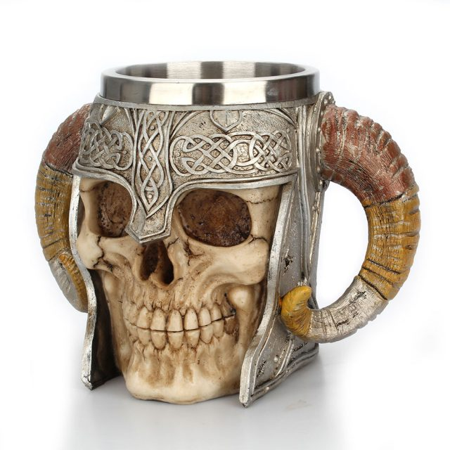 Stainless Steel Viking Skull Mug