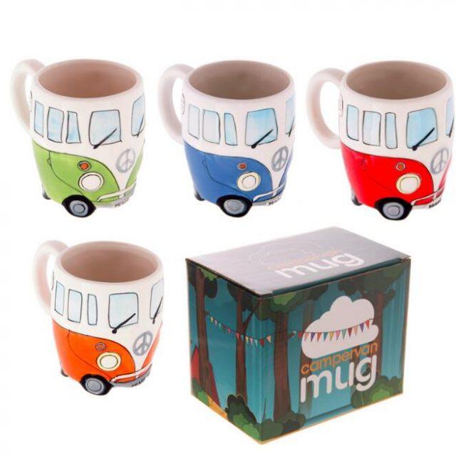 Hand Painted Bus Mugs