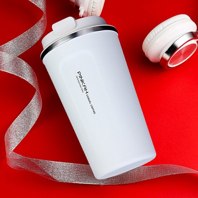 Stainless Steel Thermo Travel Coffee Mug with Lid