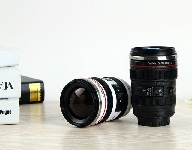 Coffee Mug 24-105mm 1:1 Camera Lens with Lid