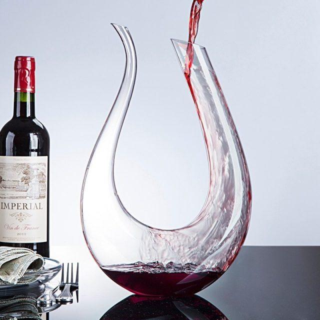 Handmade Crystal Red Wine Glass Decanter 1500ml