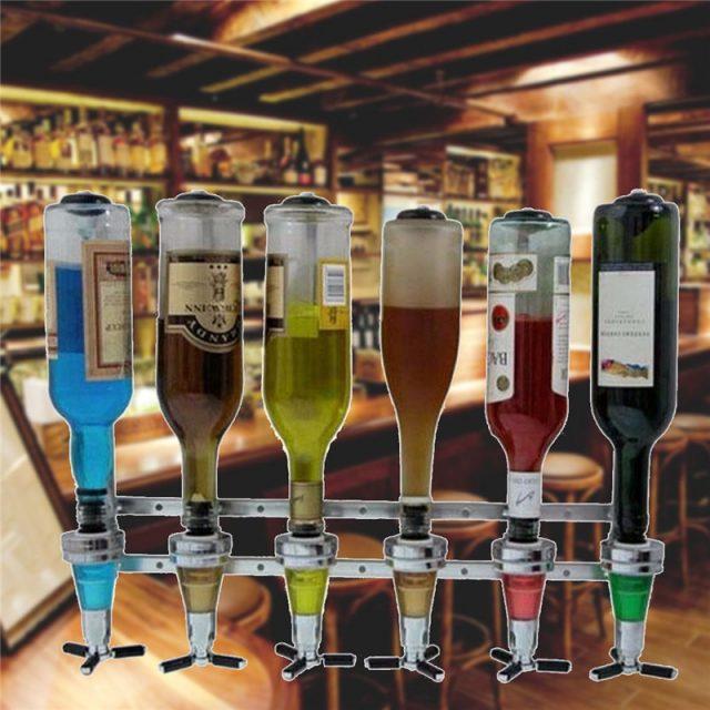 6 Bottles Wall Bracket Drinks Dispenser