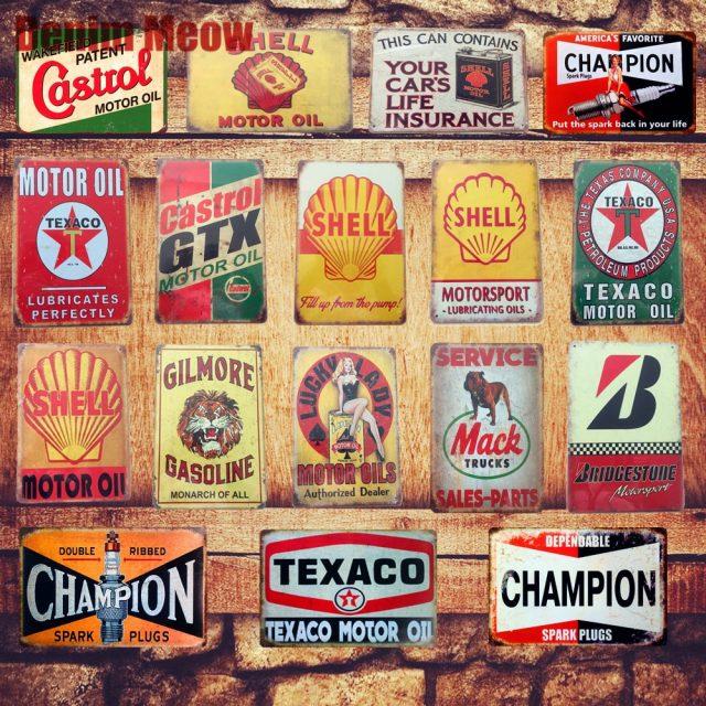 Motor Oil Plaque Vintage Metal Tin Signs