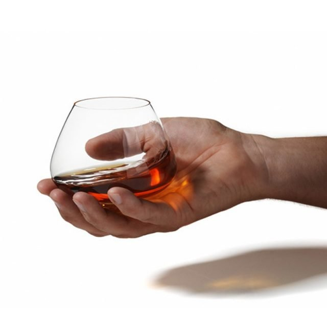 Rotate Top Wide Belly Whiskey Glass