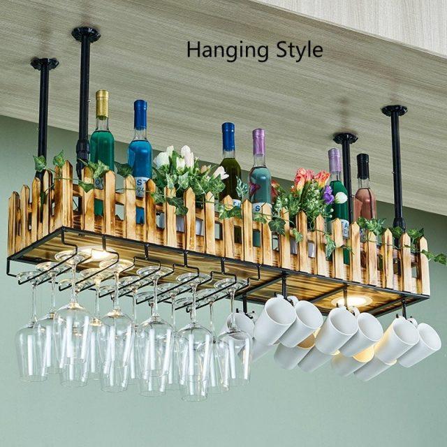 Hanging Wine Bottle Multi Rack