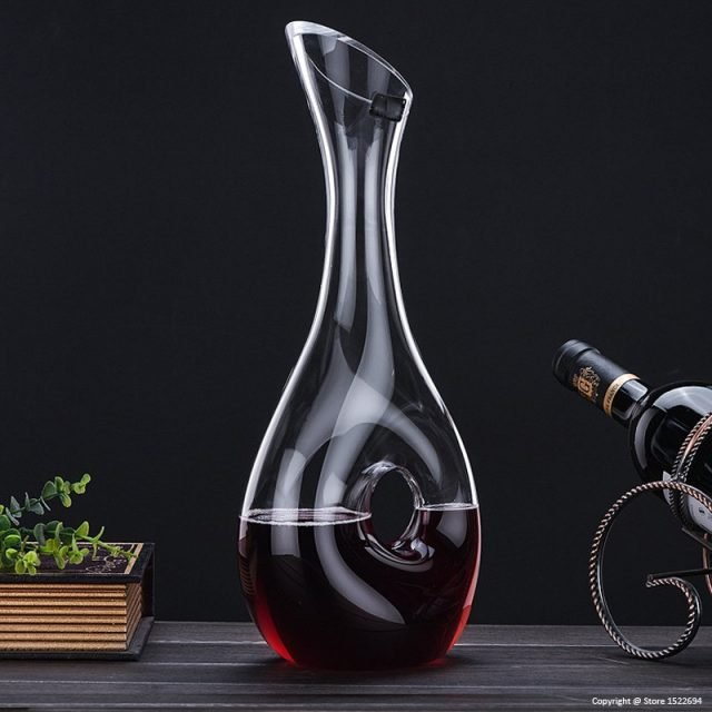 Laser Cut Snail Design Red Wine Decanter