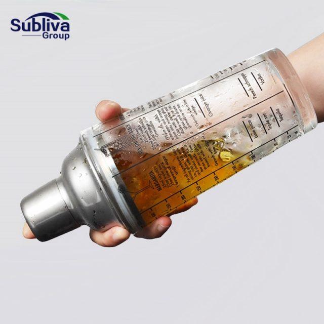 SUBLIVA Mixmaster Glass Cocktail Shaker 400 ml
