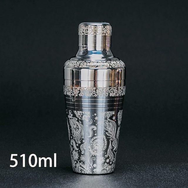 Stainless Steel Bar Cocktail Shaker 510ml