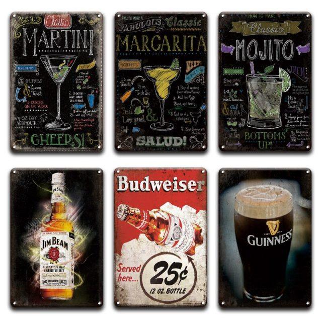 Budweiser, Mojito, Margarita Vintage Posters