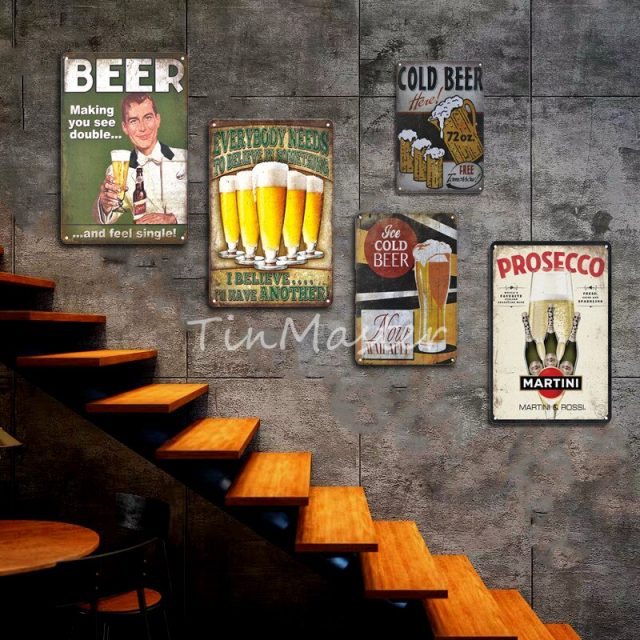 Vintage Corona Metal Plaques and Beer Posters