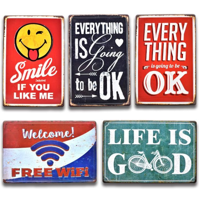 Life is Good 3D Embossed Tin Signs