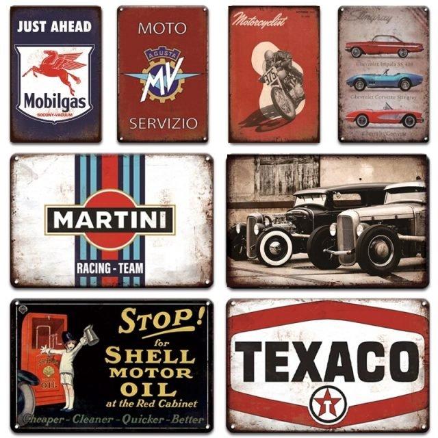 Vintage Poster Metal Signs - Texaco - Martini