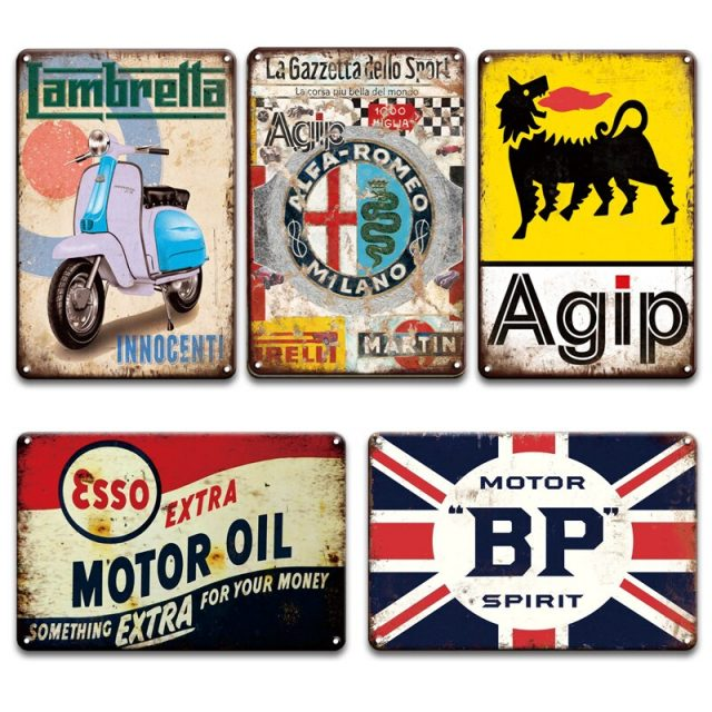 Agip and Alpha Romeo Vintage Posters