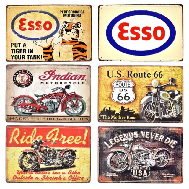 Esso and Route 66 Gasoline Posters