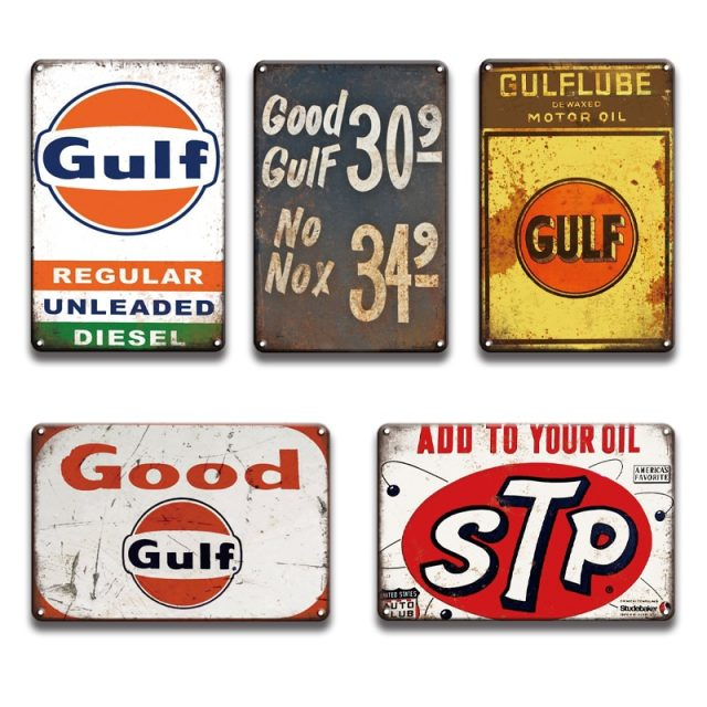 Gulf Oil Vintage Metal Posters