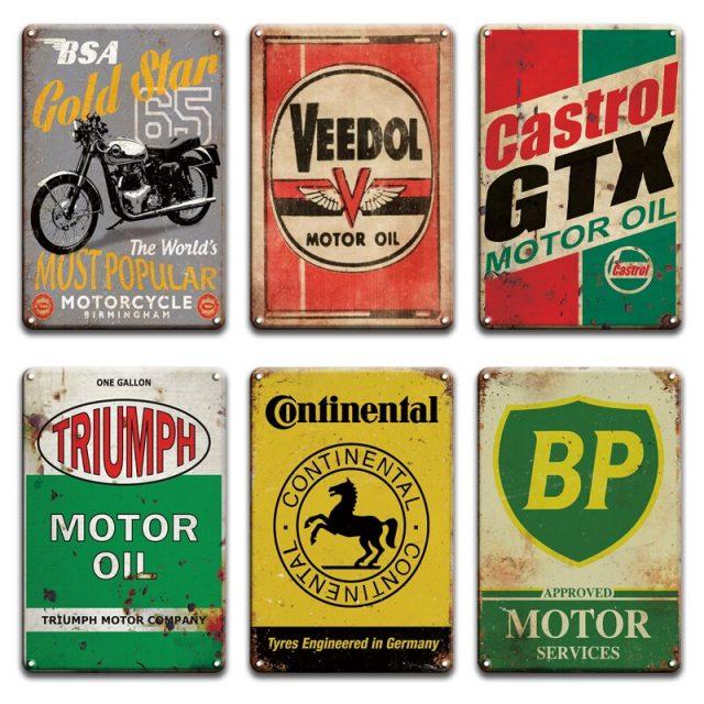 Oil Company Retro Metal Plaques