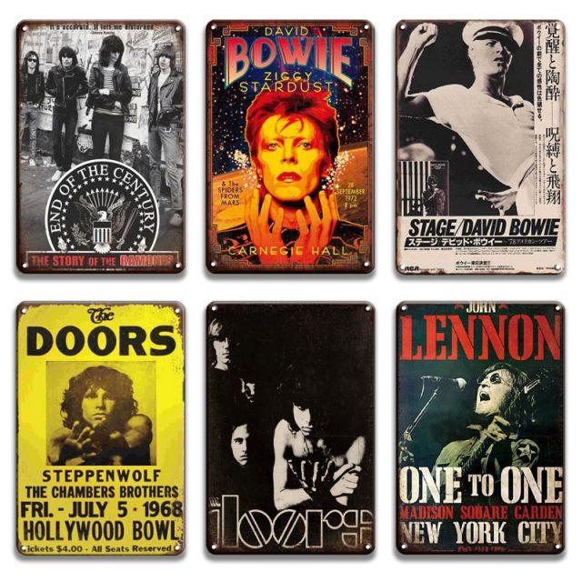 Rock Star Vintage Metal Signs