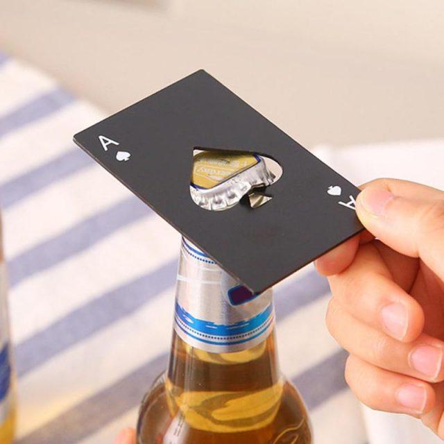 Black Poker Card of Spades Beer Bottle Opener