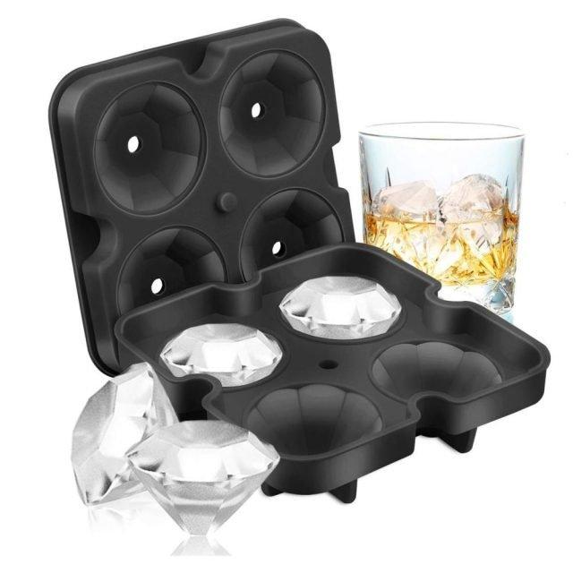 3D Diamond Silicone Mold Ice Cube Maker