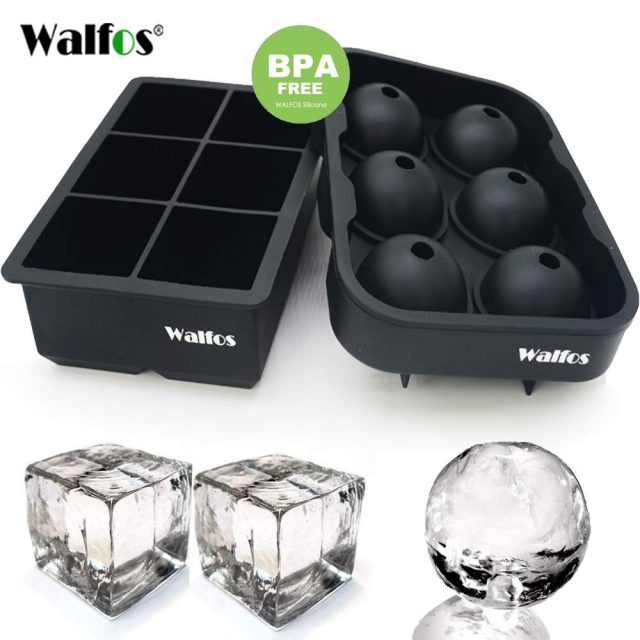 Large Size 6 Cell Ice Ball Mold Silicone Tray